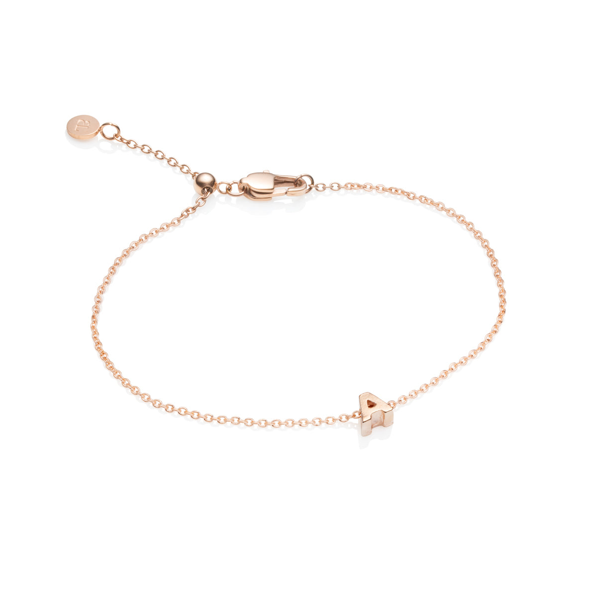 Little Luxe Letter Bracelets (Rose Gold)