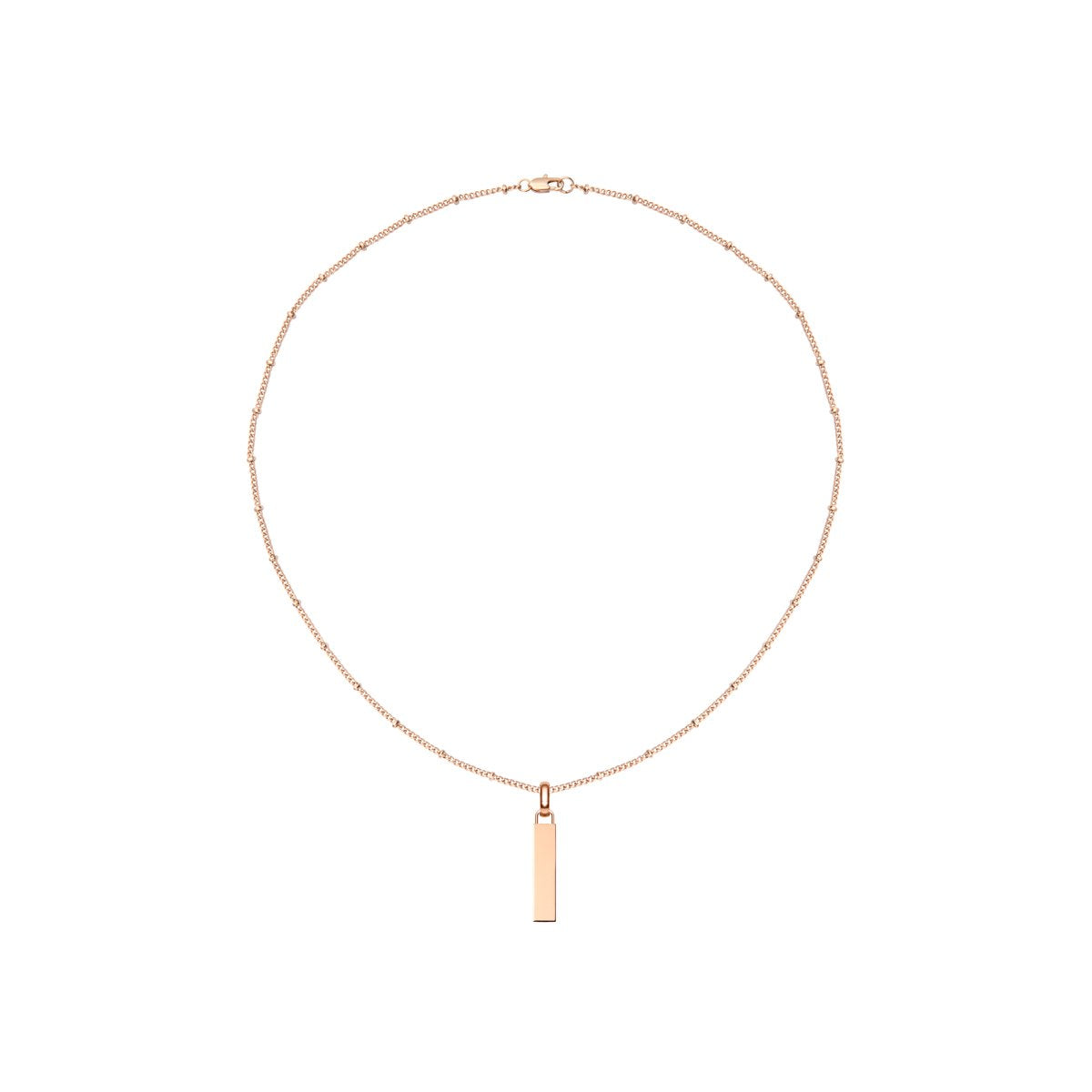 Small Lineare Charm Necklace (Rose Gold)