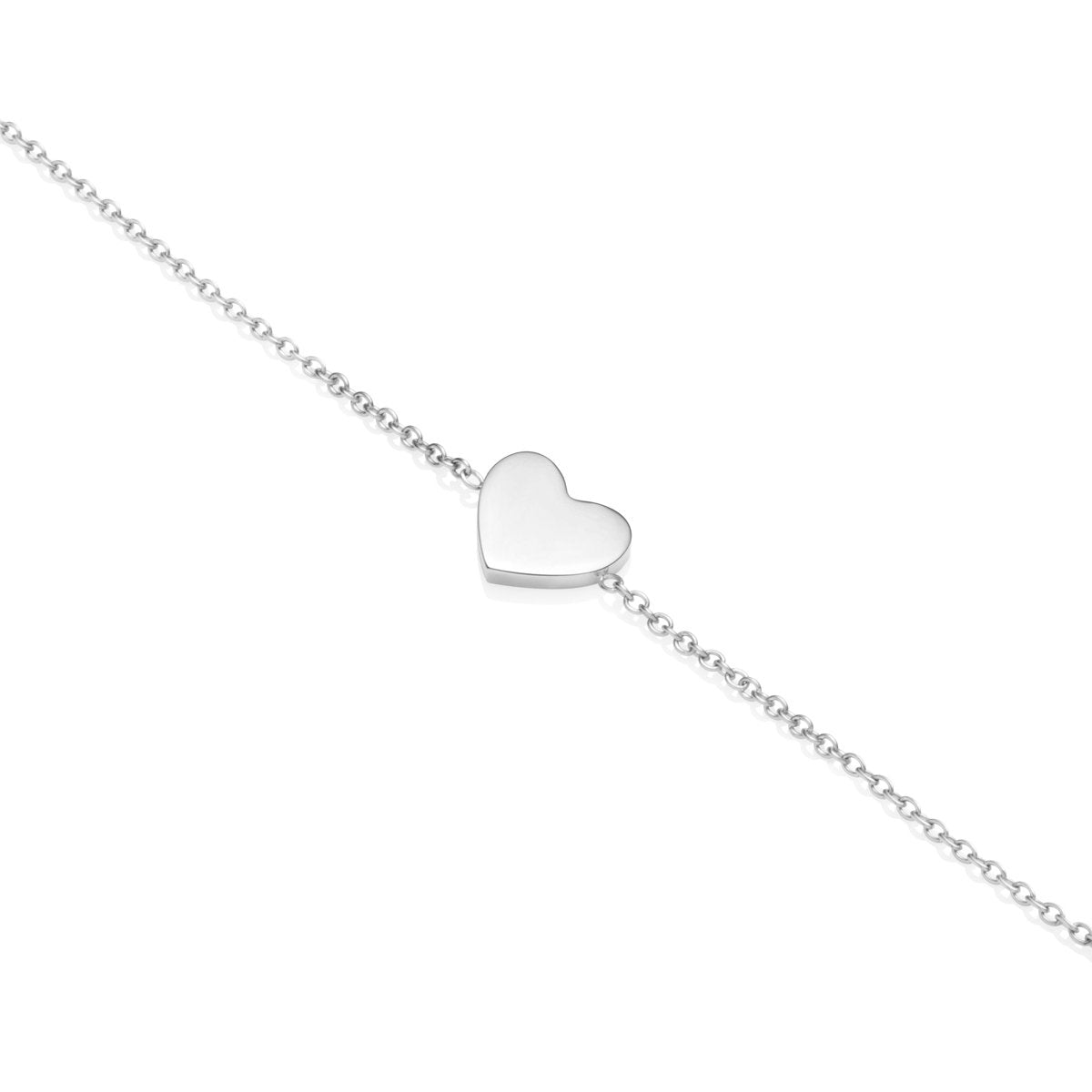 Little Luxe Heart Bracelet (Silver)