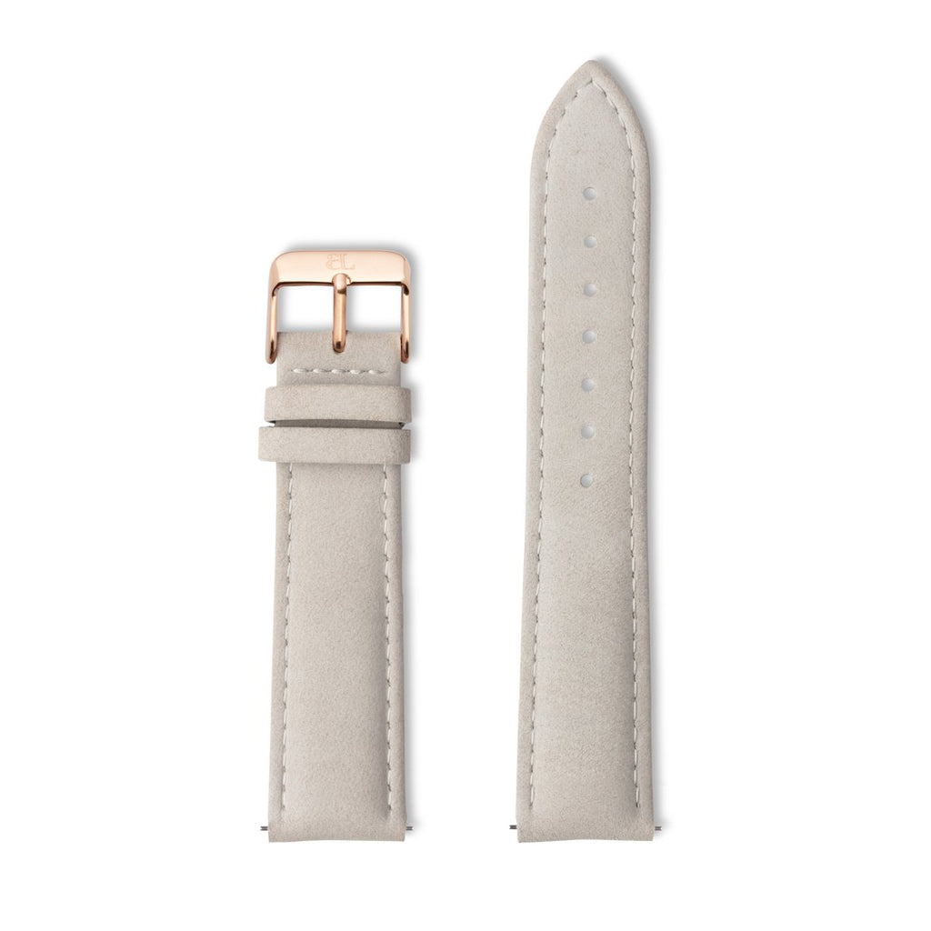 Grey Leather 40 Strap (Rose Gold)