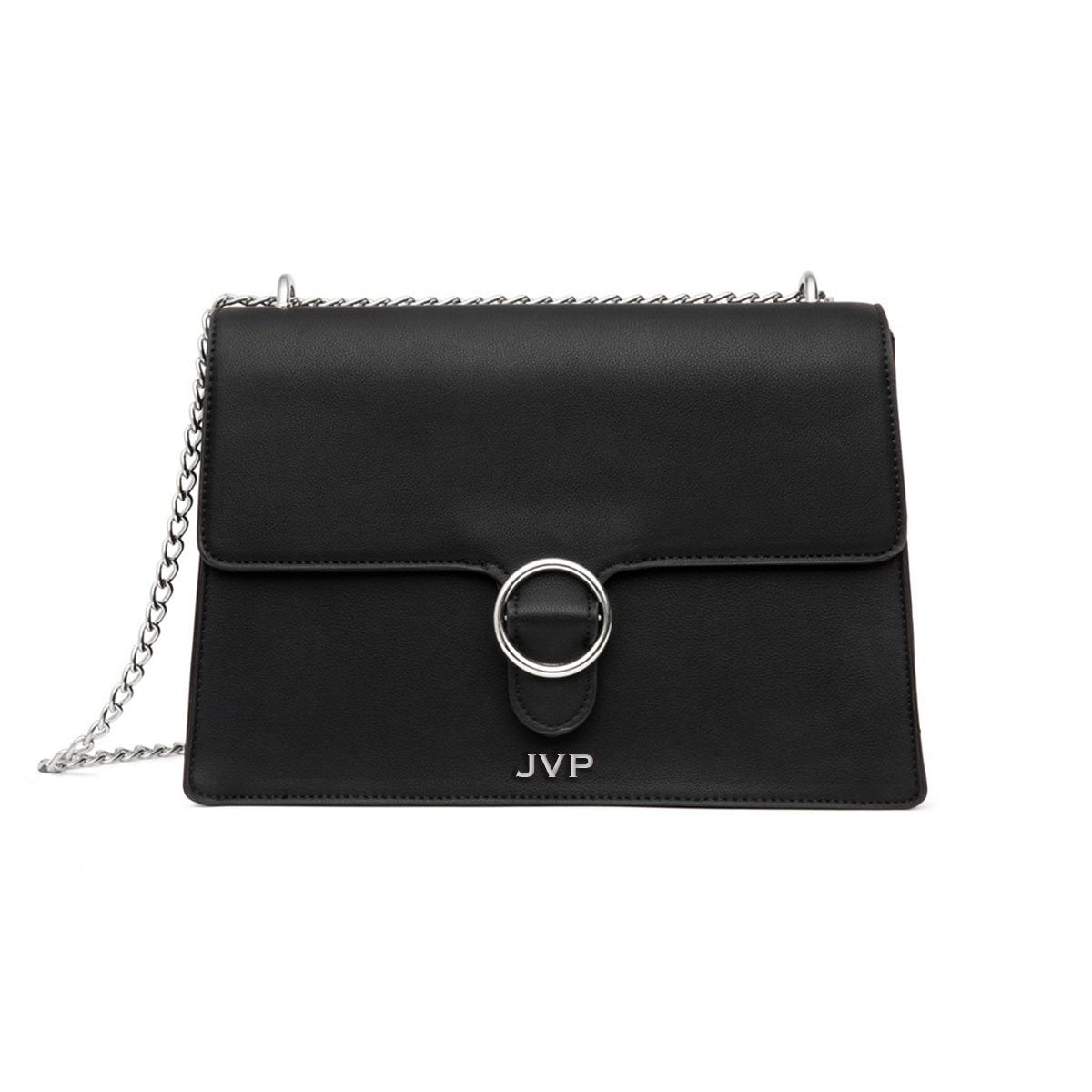Mara Shoulder Bag (Jet Black/Silver)