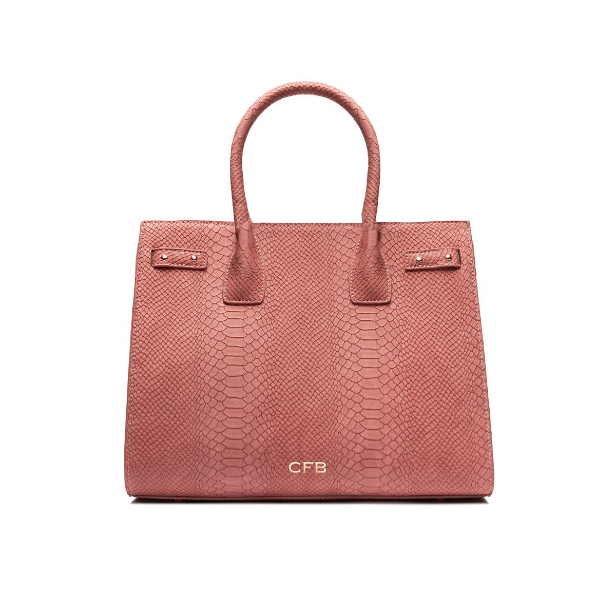 Isla Top Handle Bag (Dusky Nude/Rose Gold)