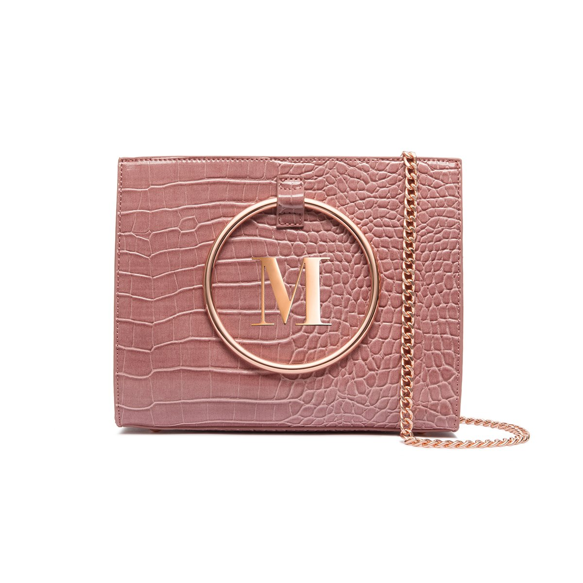 Moda Top Handle Bag (Dusky Mauve/Rose Gold)