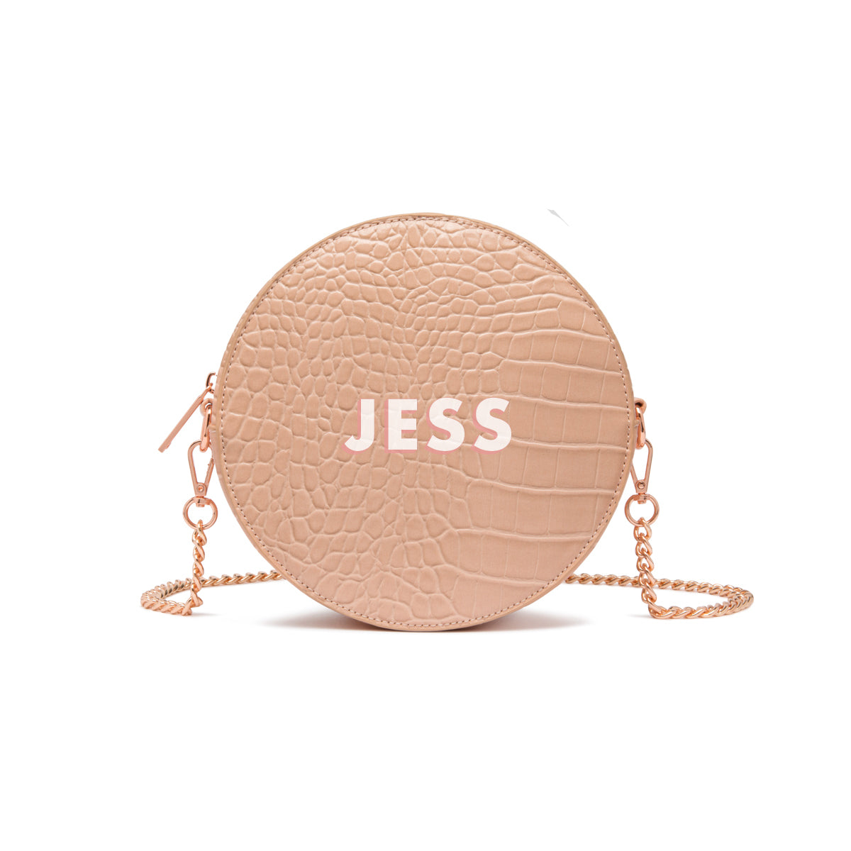 Nina Crossbody Bag (Nude Peach/Rose Gold)
