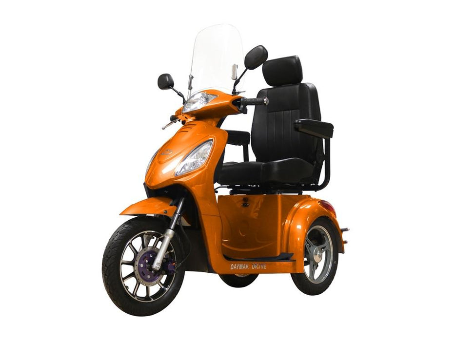 Rickshaw King Triporteur (60 Volts) (800 Watts) Orange Scooter Électrique