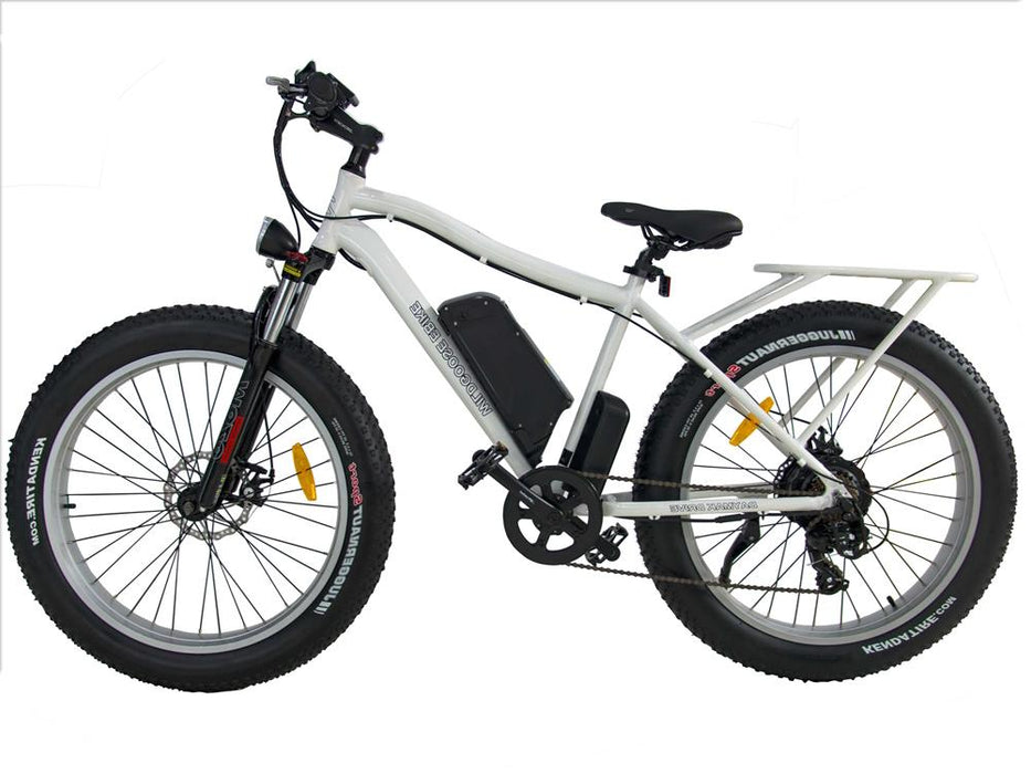 Wild Goose Vélo Électrique Lithium (Fat Bike) (48 Volts) (500 Watts) Blanc