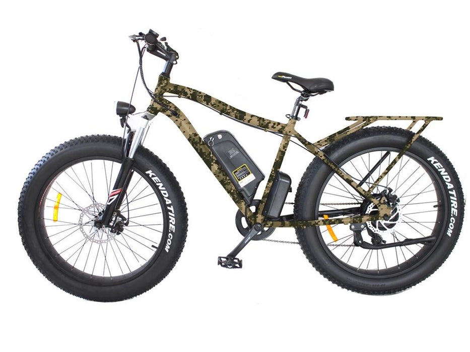 Wild Goose Vélo Électrique Lithium (Fat Bike) (48 Volts) (500 Watts) Camo