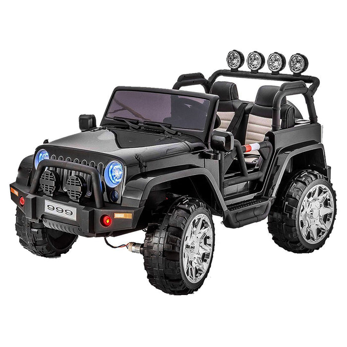 Jeep Rubicon Xxl (4X4) (12 Volts) (2 Places) Noir Voitures Places)