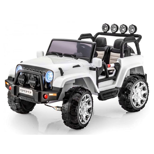 Jeep Rubicon Xxl (4X4) (12 Volts) (2 Places) Blanc Voitures Places)