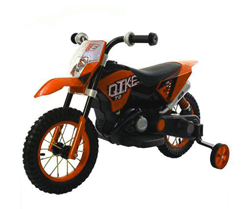 Mini-Moto Style Kawasaki Ktm (6 Volts) (1 Place) Orange Moto Électrique