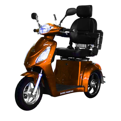 Rickshaw Dx Triporteur (60 Volts) (500 Watts) Orange Scooter Électrique