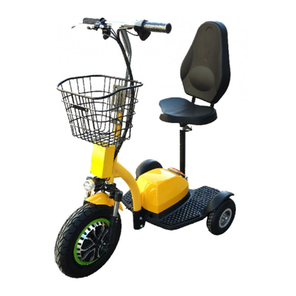 Zappy Dx Triporteur (48 Volts) (500 Watts) Jaune Scooter Électrique
