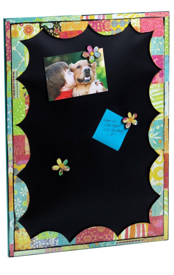 Memo Board with flower magnets