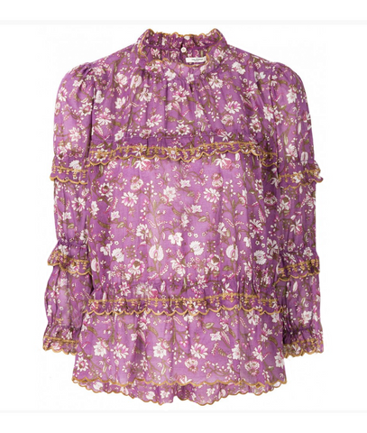 Isabel Marant Etoile Moxley embroidered top violet