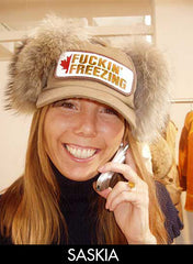 Saskia Lamche of Diverse laughing wearing amusing hat