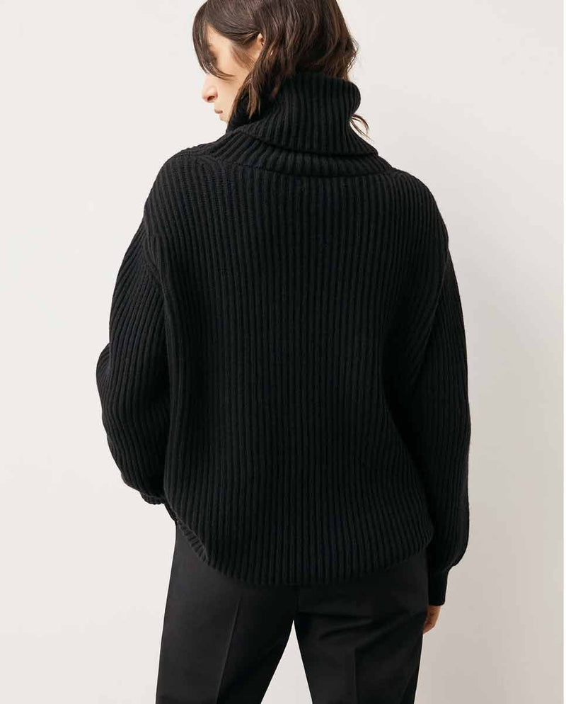 AND DAUGHTER Inver Rib Cashmere Knit black-Back