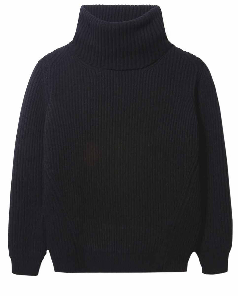 AND DAUGHTER Inver Rib Cashmere Knit black-Diverse