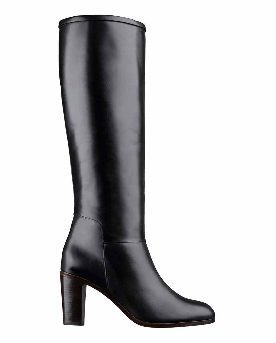 APC Marion knee high boots black-Diverse