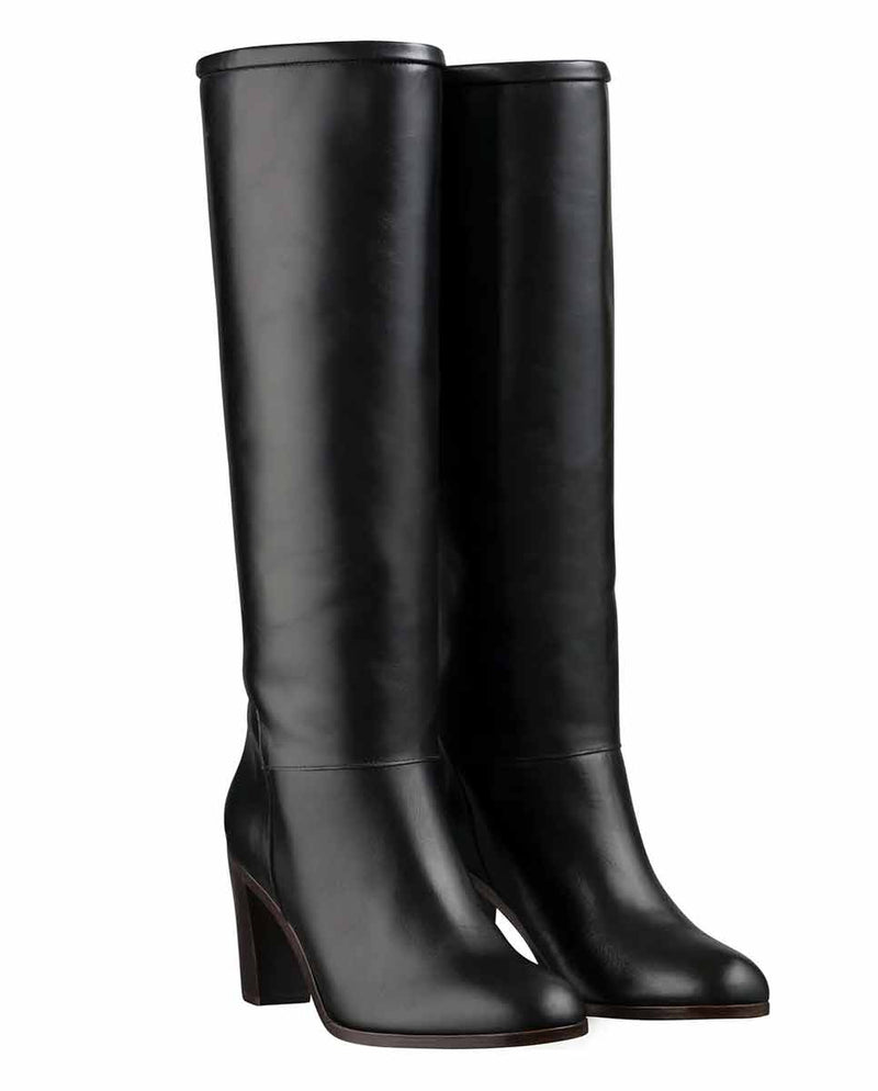 APC Marion knee high boots black-Side