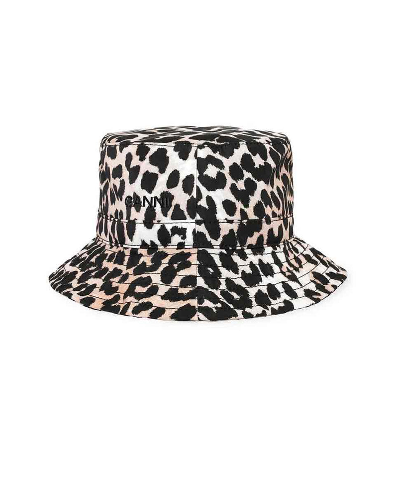 GANNI tech fabric bucket hat leopard Front-DIVERSE