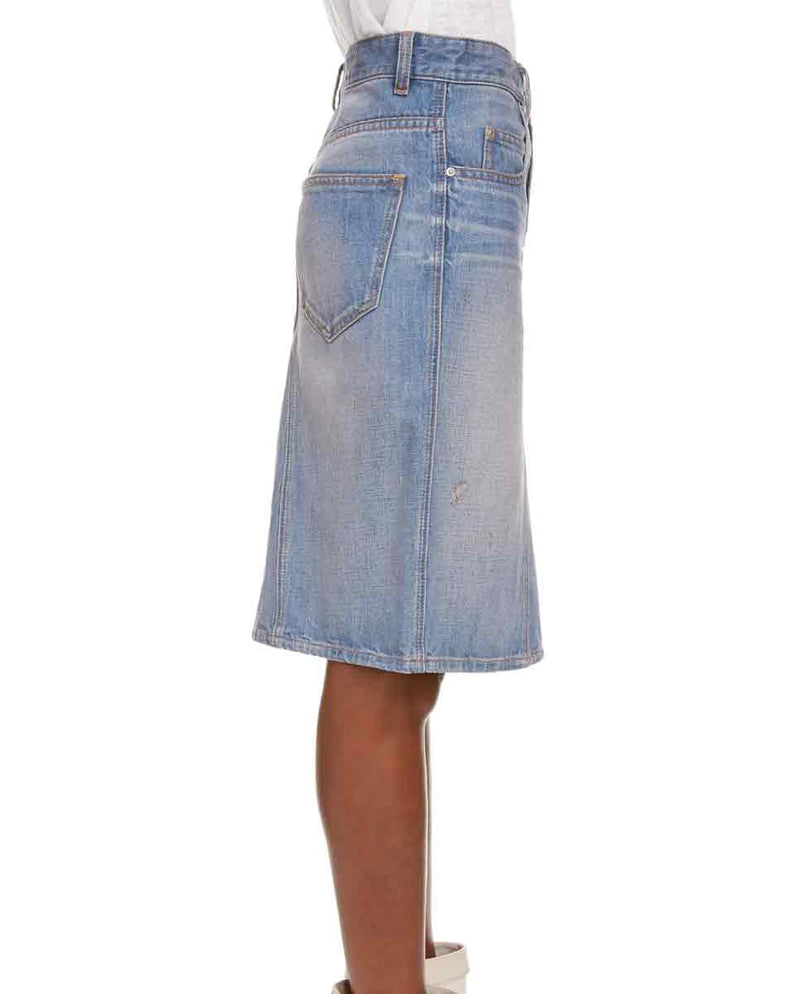 ISABEL MARANT ETOILE - Fiali skirt denim side-Diverse