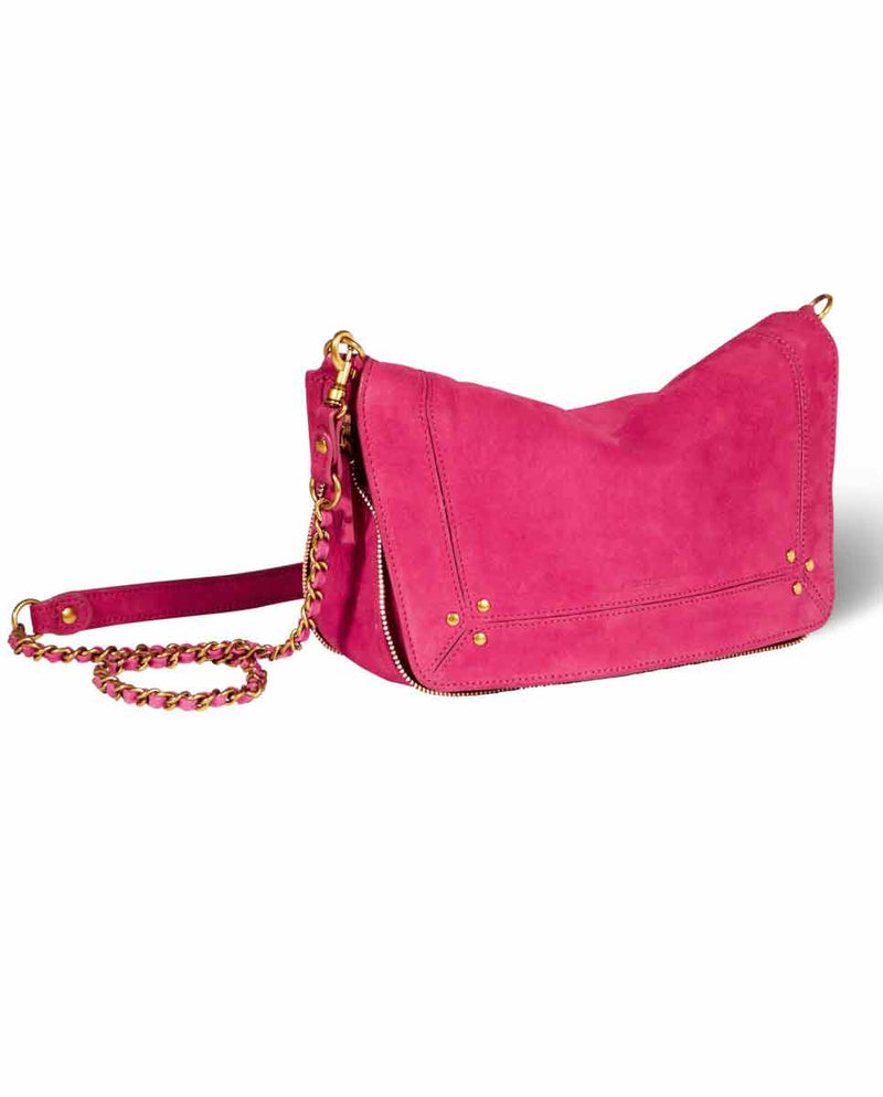 JEROME DREYFUSS Bobi S Handbag Fuxia Pink-SIDE