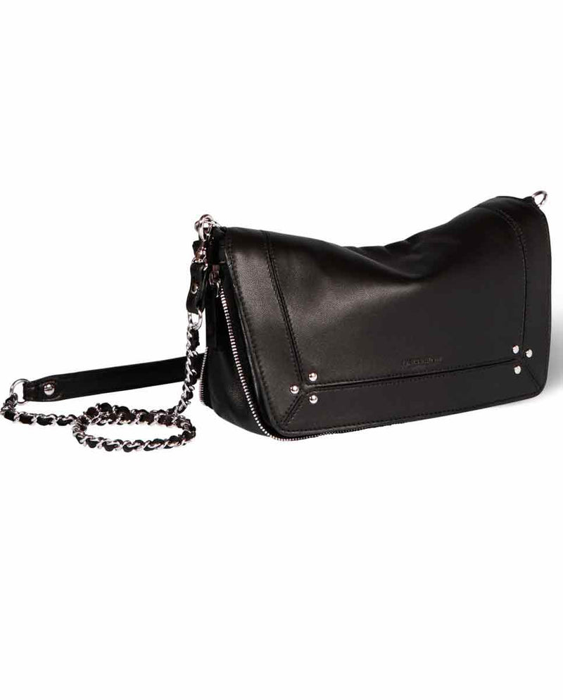 JEROME DREYFUSS Bobi S Handbag Noir Silver-SIDE