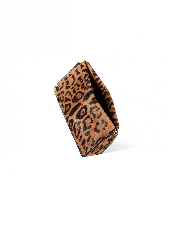 Jerome Dreyfuss Clic Clac clutch bag Leopard-Open