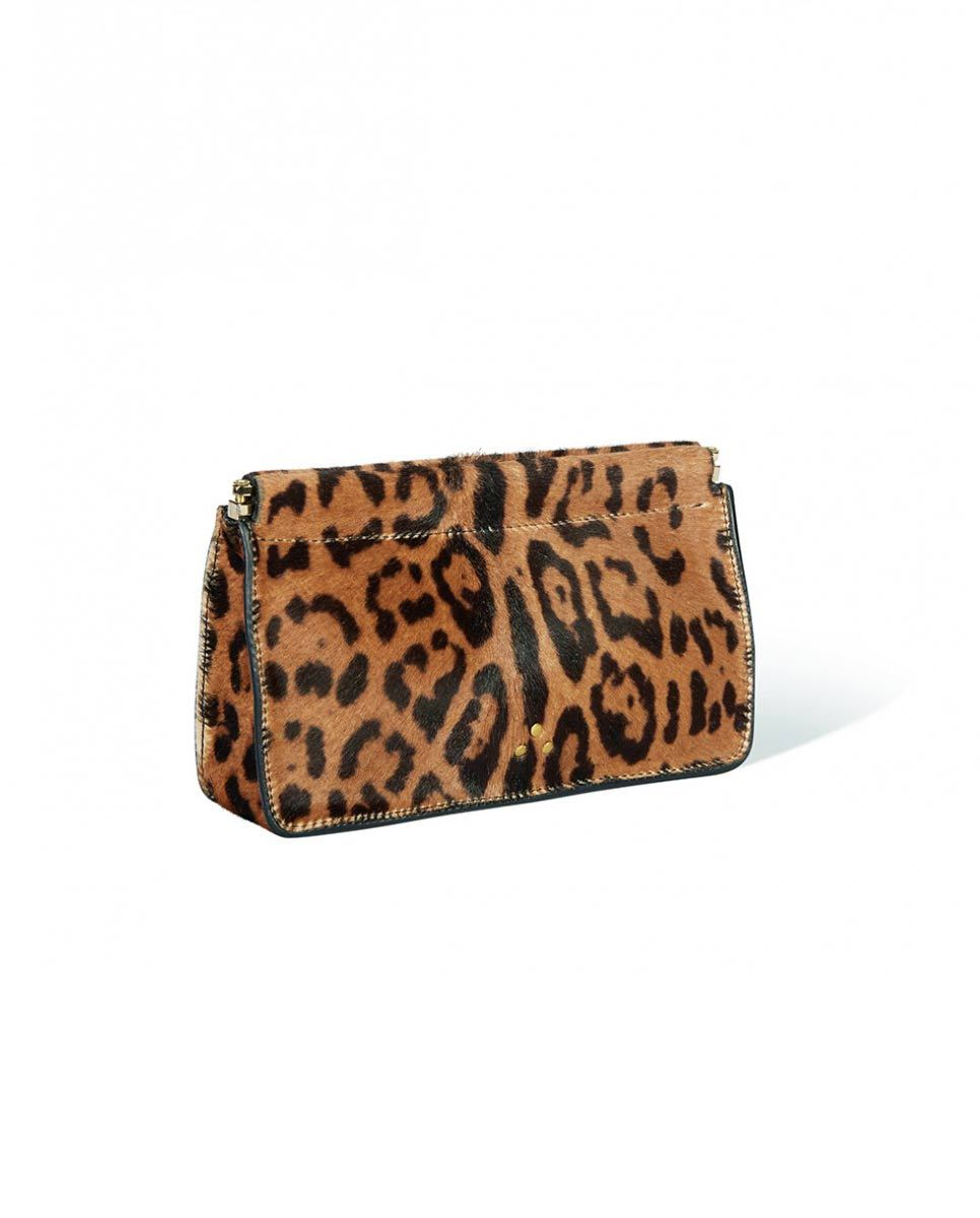 Jerome Dreyfuss Clic Clac clutch bag Leopard-Side