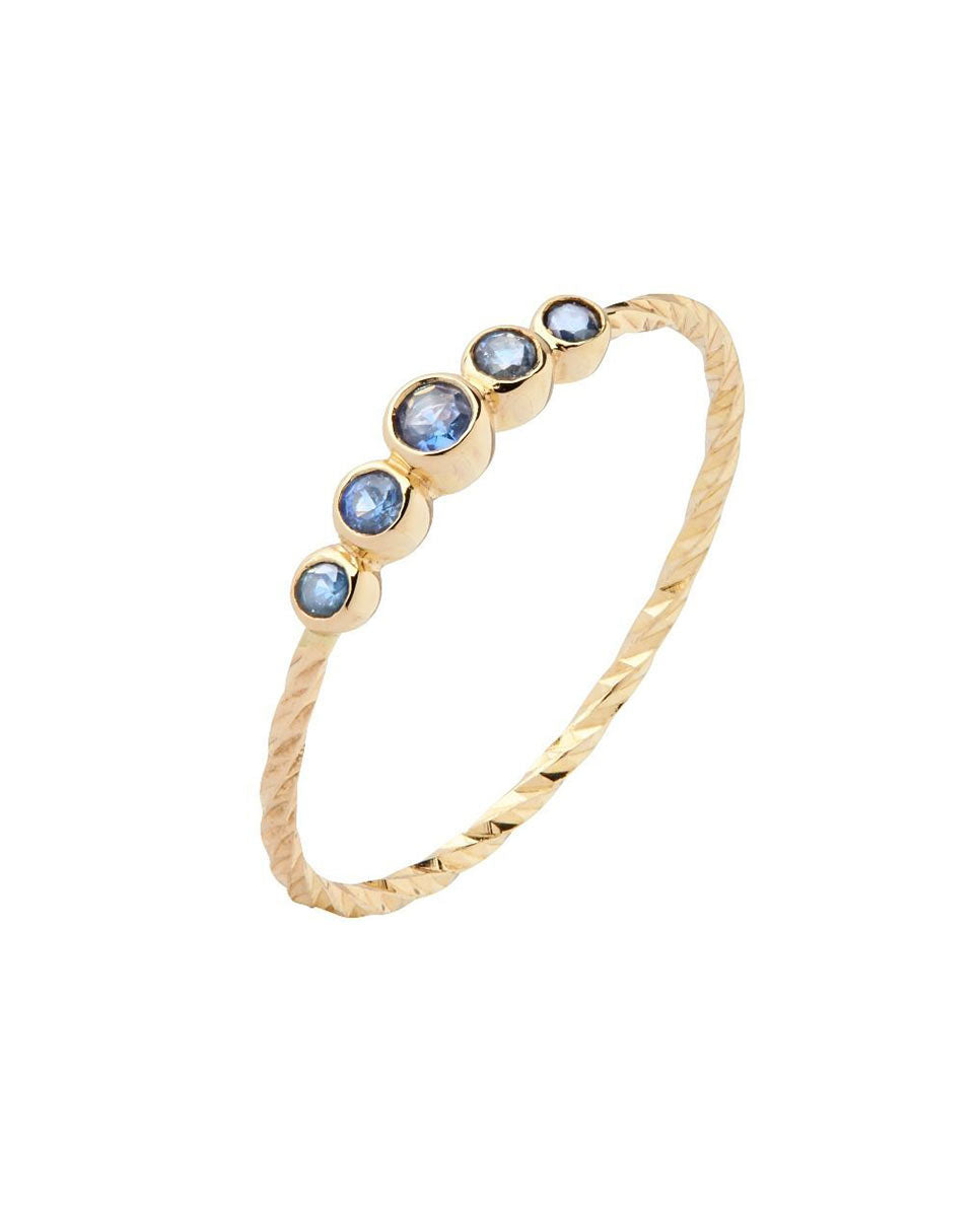 Maria Black Ally ring gold blue sapphires-Side
