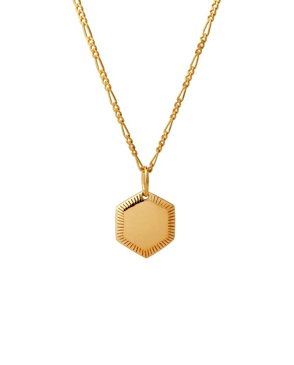 MARIA BLACK Kim necklace gold front-Diverse