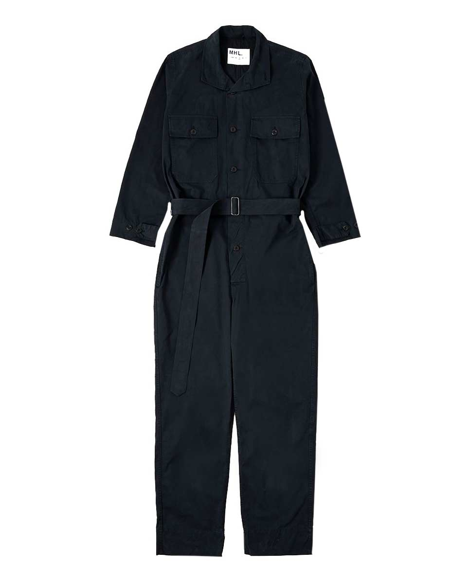MHL Overalls cotton twill ink front-DIVERSE