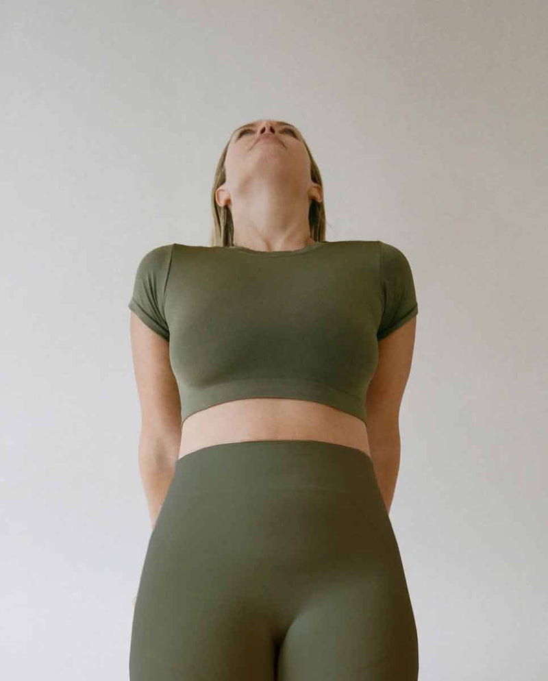 PRISM Mindful top khaki Lookbook-DIVERSE
