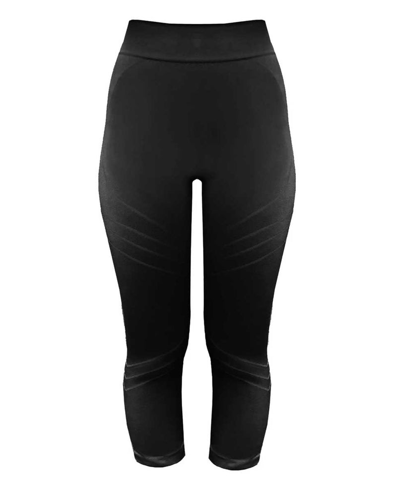 PRISM Motion 3/4 Leggings Black Front-DIVERSE