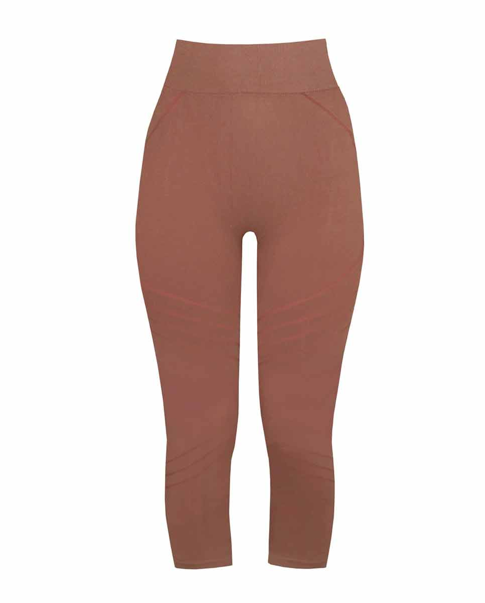 PRISM Motion 3/4 Leggings Rusty pink Front-DIVERSE