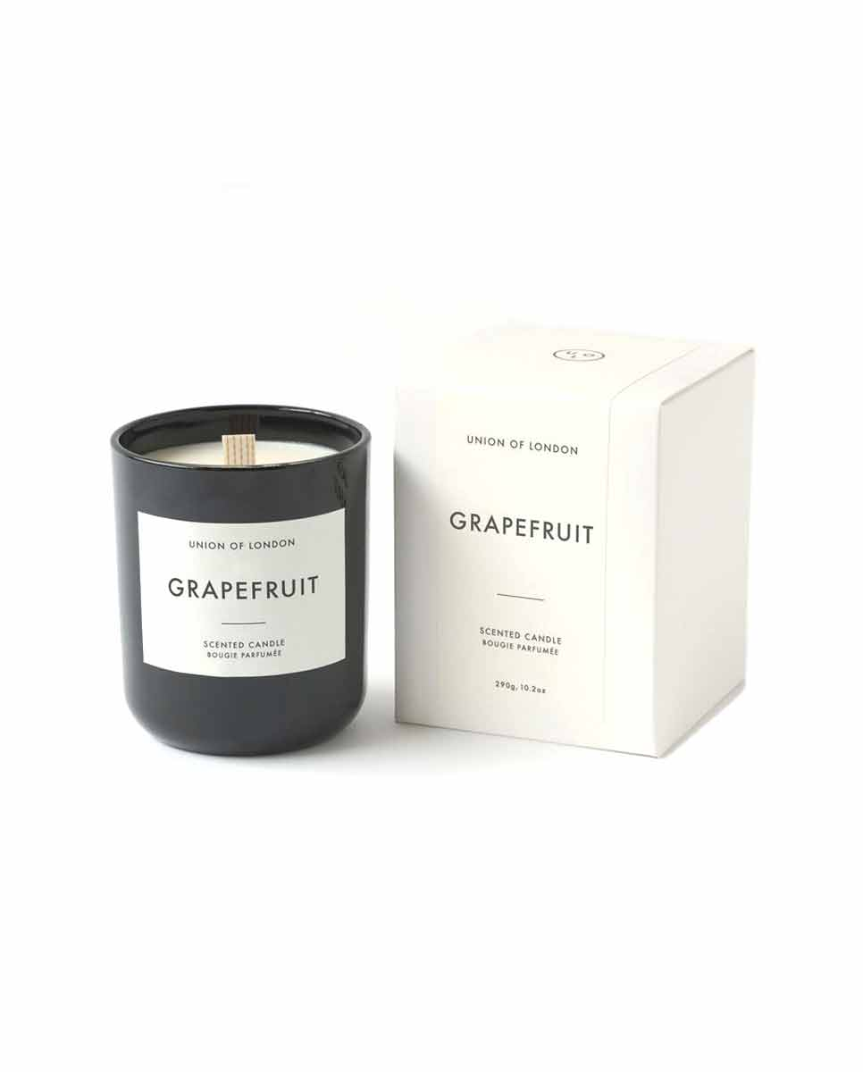 UNION of LONDON Grapefruit candle black large-BOX
