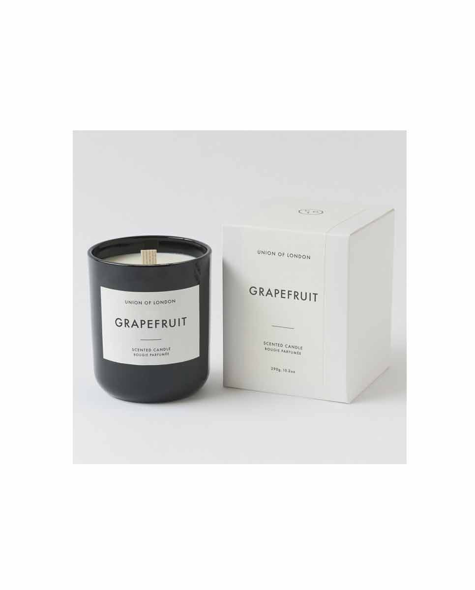 UNION OF LONDON Grapefruit scented candle black med-BOX