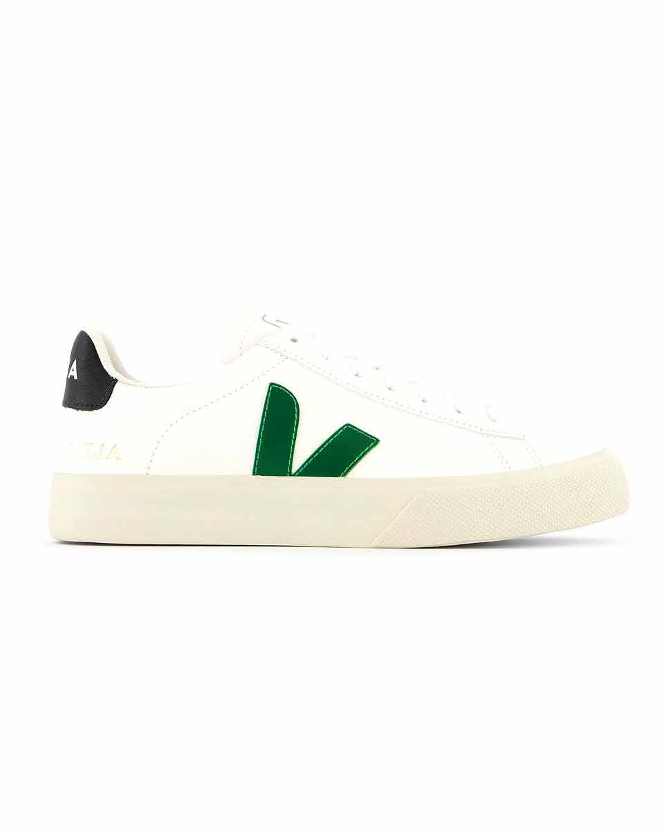 VEJA VEJA Campo trainers White Emeraude Black profile-DIVERSE
