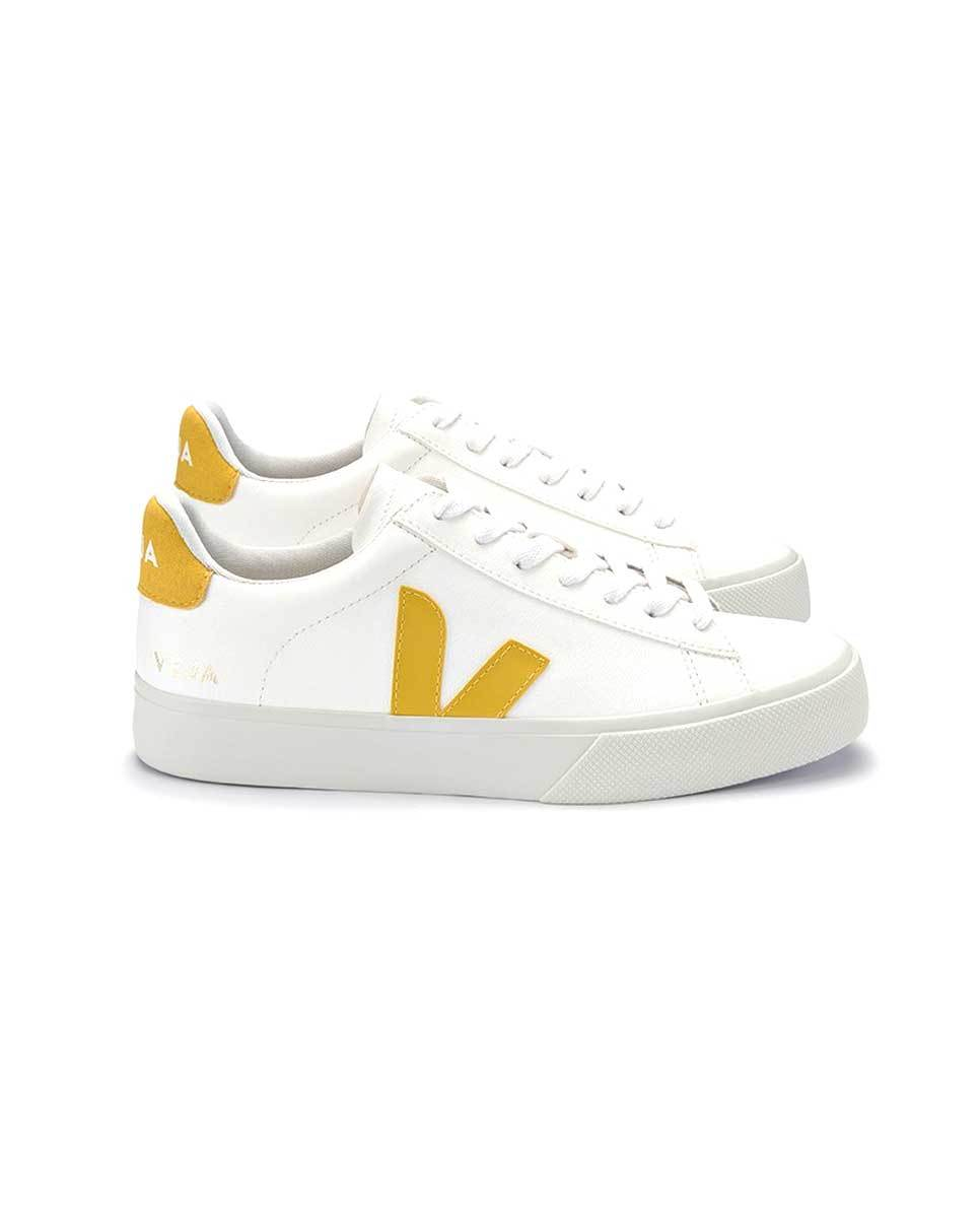 Veja Campo trainers white yellow profile-Diverse