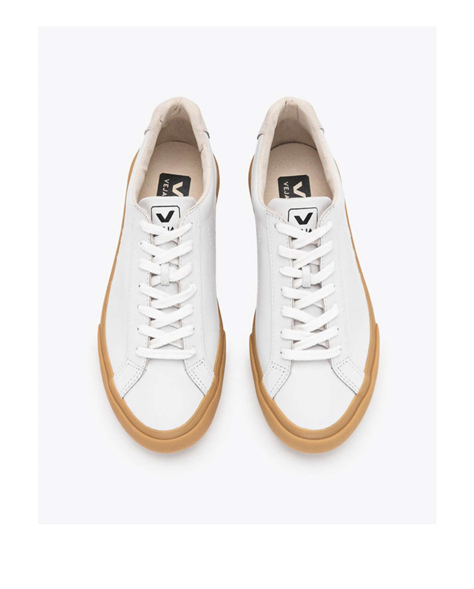 Veja Esplar trainers white leather natural sole-Diverse