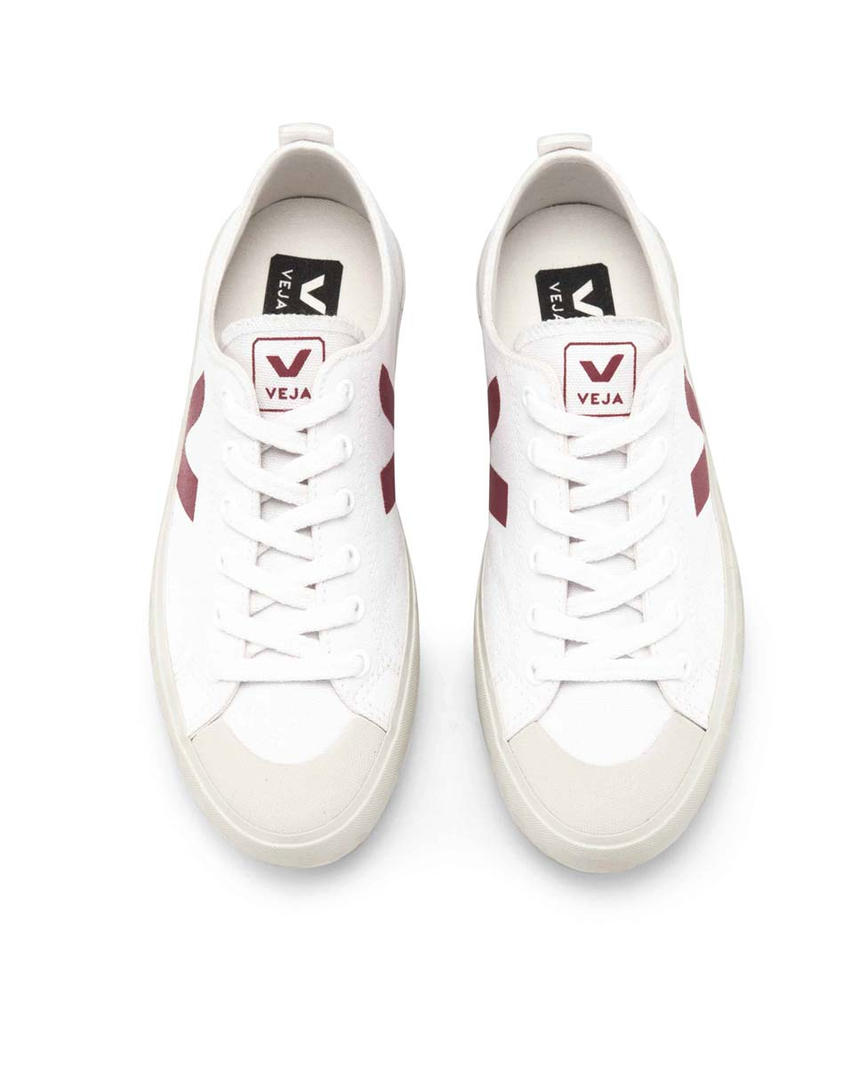 Veja Nova canvas trainers white marsala top-Diverse