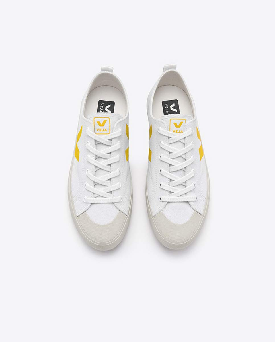 Veja Nova white gold yellow trainers-Diverse