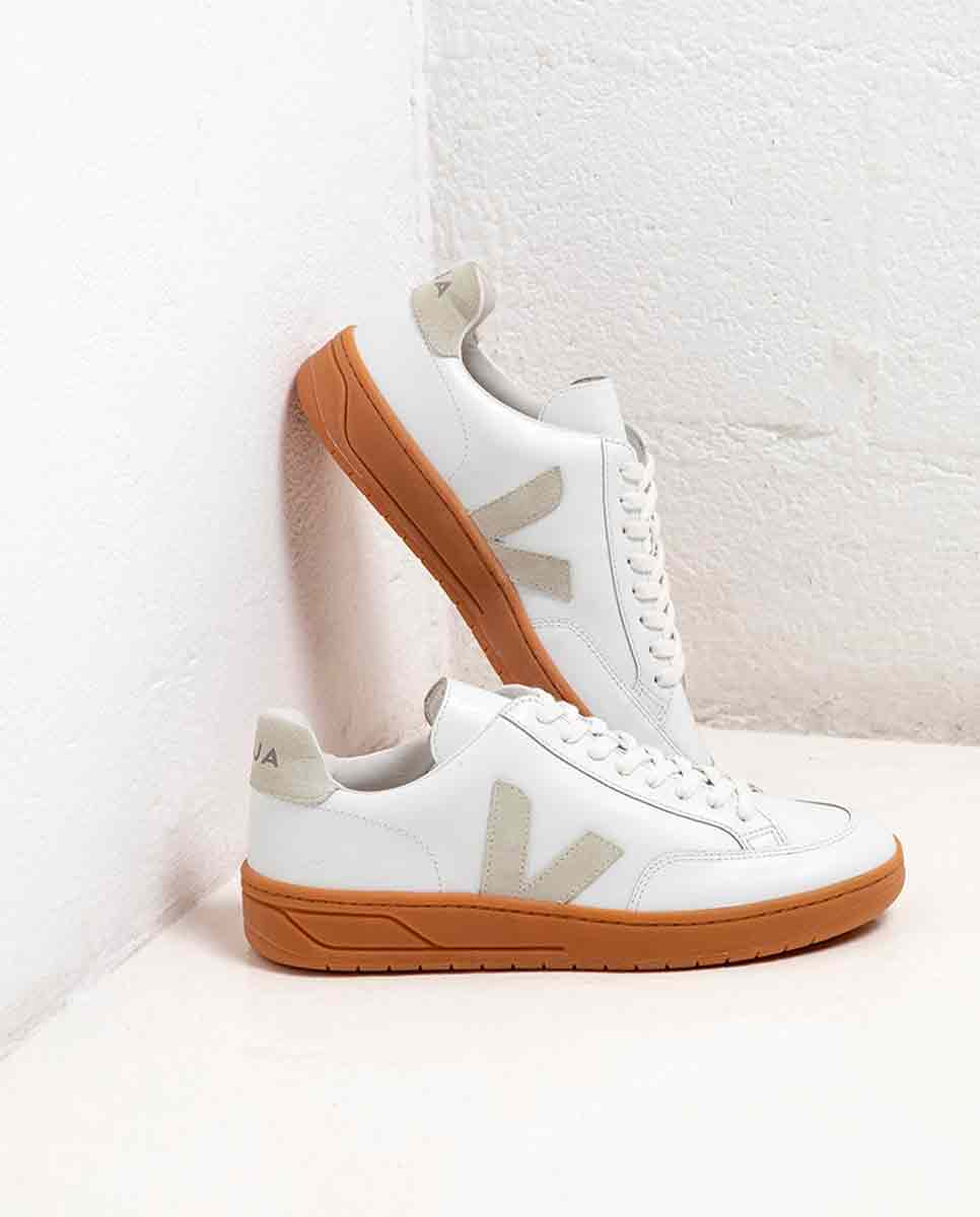 VEJA V-12 trainer white natural sole lookbook-Diverse