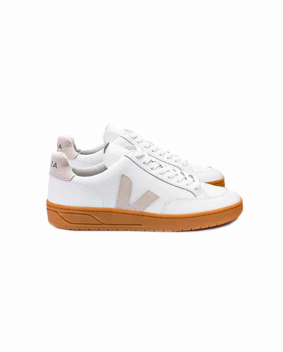 VEJA V-12 trainer white natural sole profile-Diverse