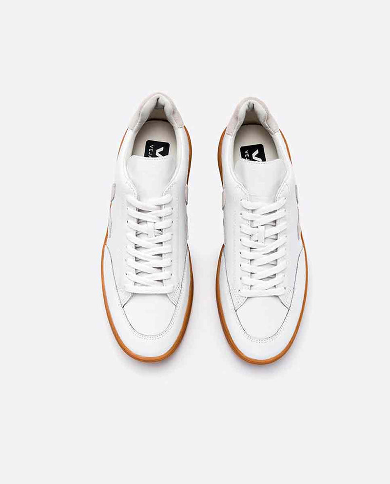 VEJA V-12 trainer white natural sole top-Diverse