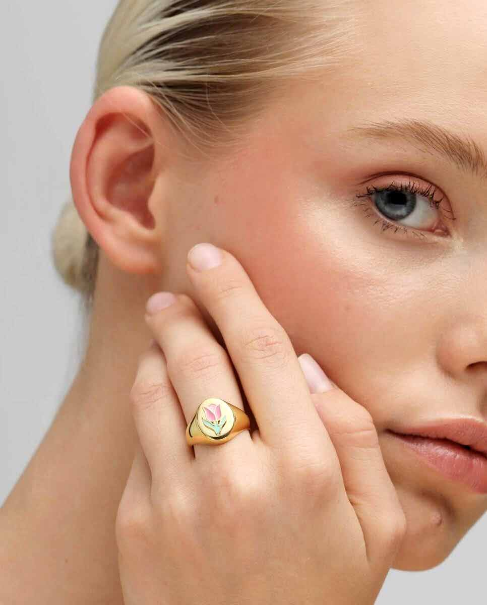 WILHELMINA GARCIA Tulip ring gold model-Diverse