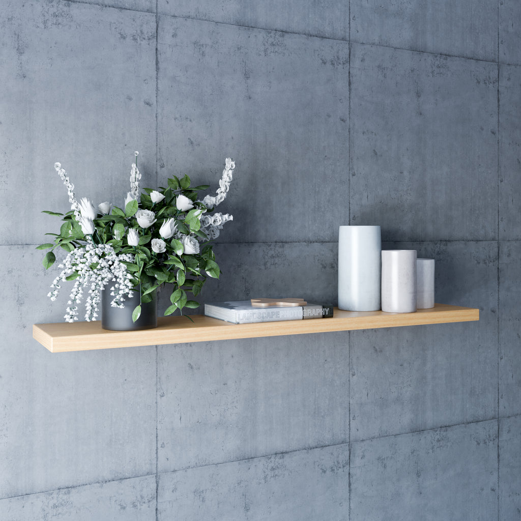 Oak Floating Shelves - 150mm Deep