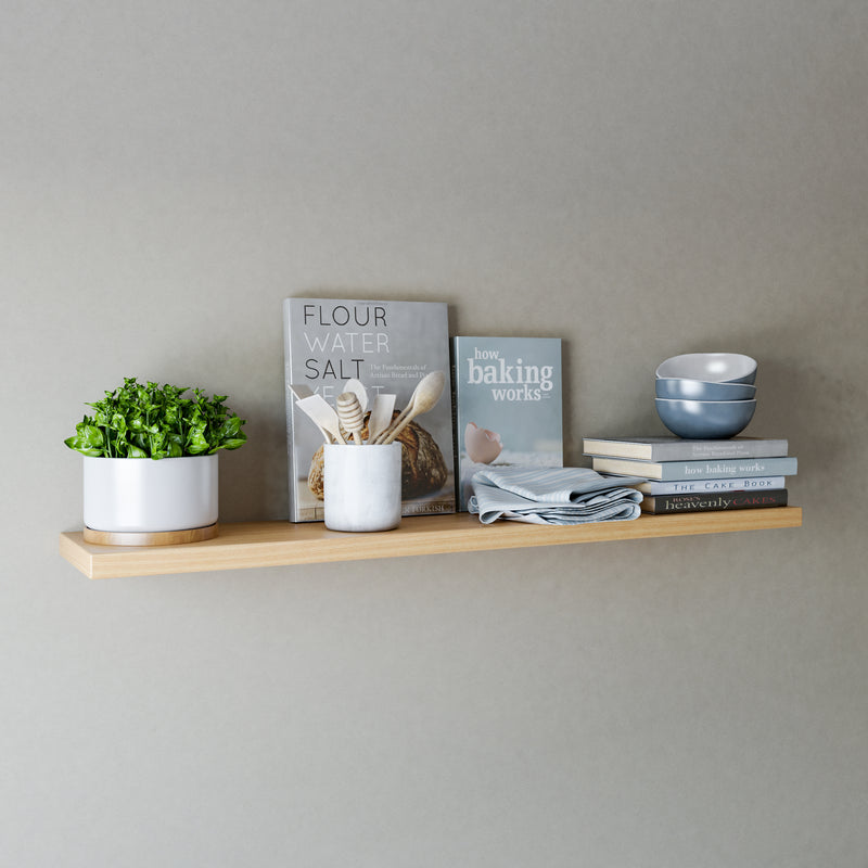 Oak Floating Shelves - 200mm Deep