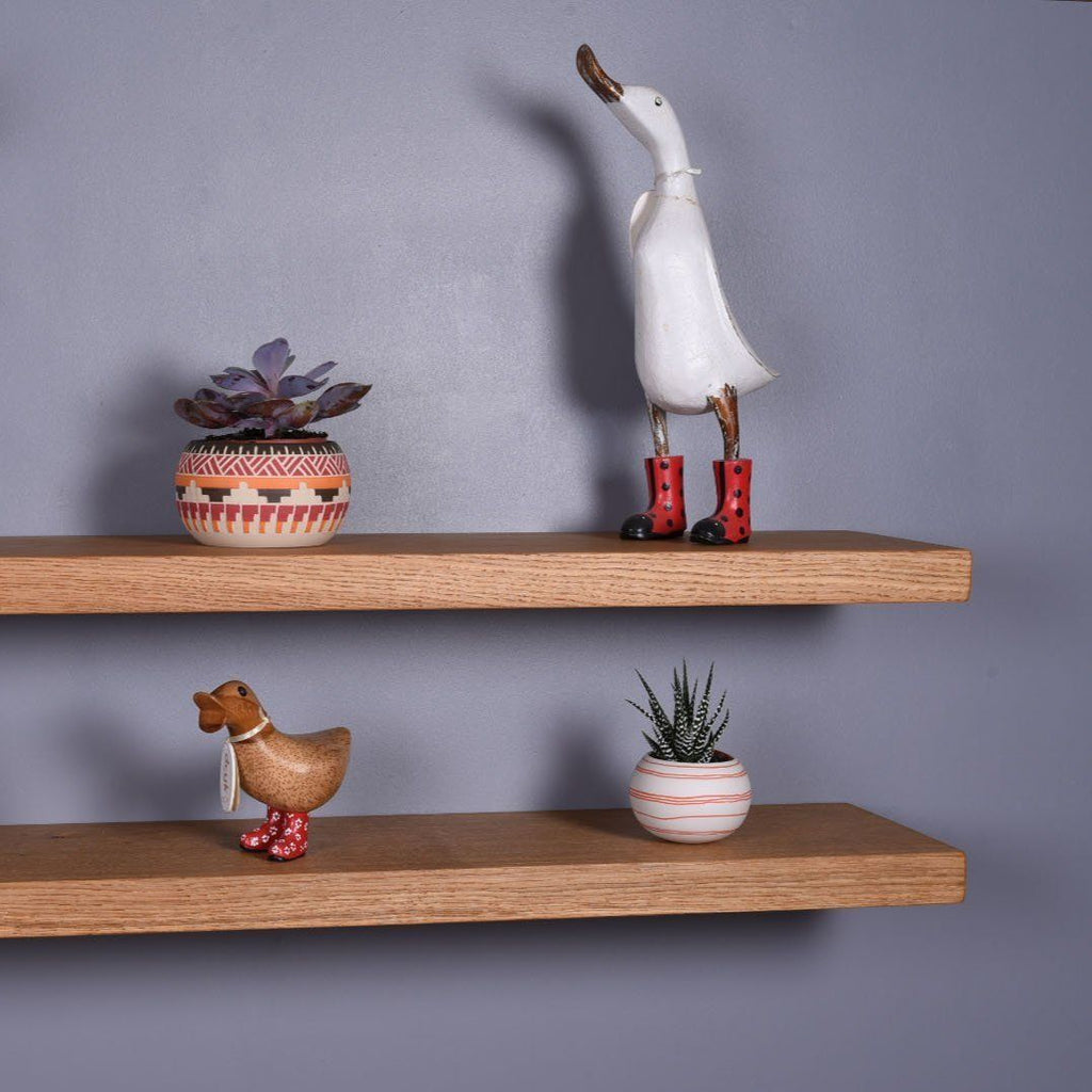 Oak Floating Shelves - 150mm Deep - Kube Designs