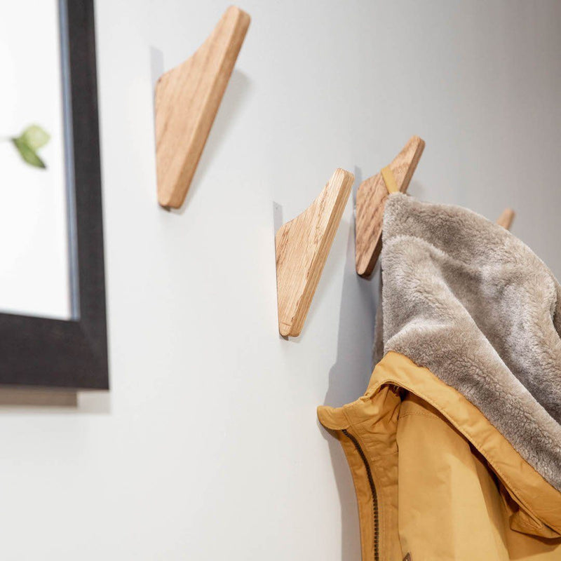 Oak Coat Hooks - Kube Designs